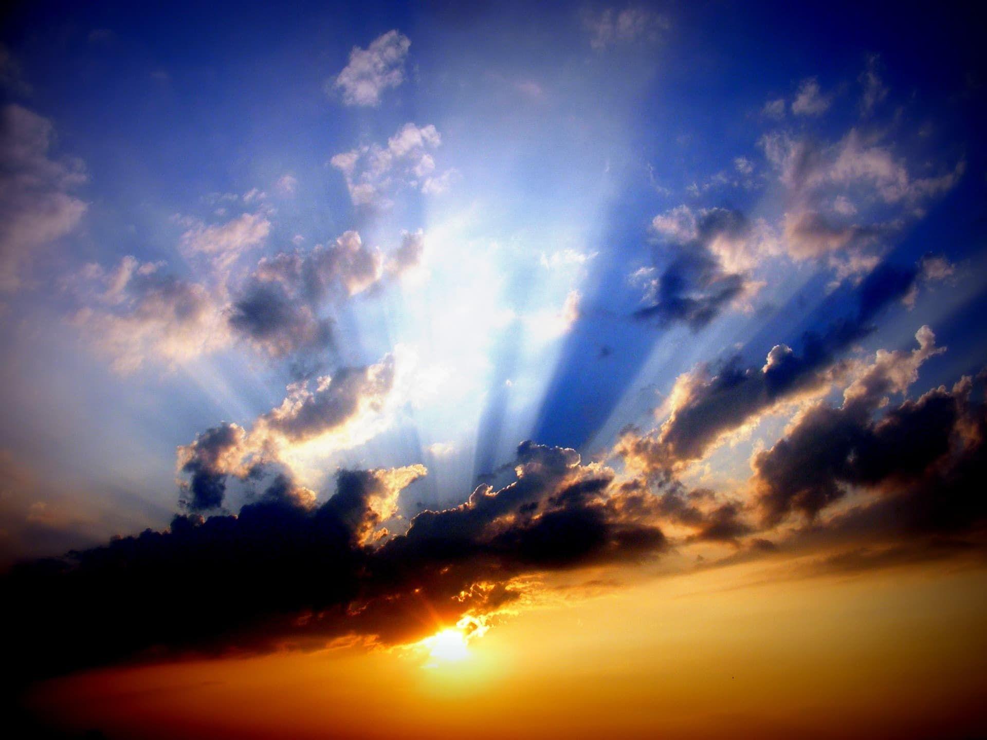 Příběh hvězda aanděl, západ slunce