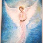 Jak jsme bohatí, namalovaný obraz - anděl