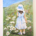 Jak jsme bohatí, namalovaný obraz - holčička