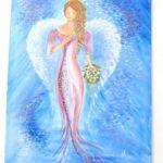 Jak jsme bohatí, namalovaný obraz - nevěsta v růžovém
