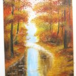 Jak jsme bohatí, namalovaný obraz - podzim