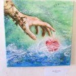 Jak jsme bohatí, namalovaný obraz - srdce