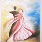 Jak jsme bohatí, namalovaný obraz - tanec