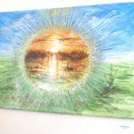Jak jsme bohatí, namalovaný obraz - západ slunce