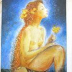 Jak jsme bohatí - namalovaný obraz - žena