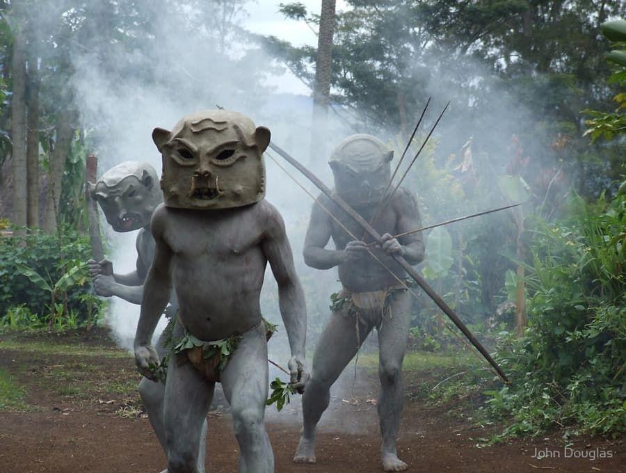 Asaro - Bahenní lidé, Papua Nová Guinea