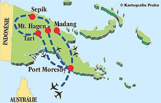 Plán cesty - Papua Nová Guinea