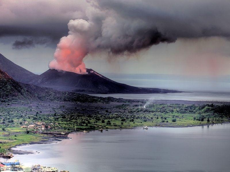 Papua Nová Guinea - Mount Tavurvur