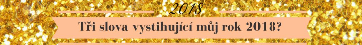 3 slova vystihující můj rok 2018